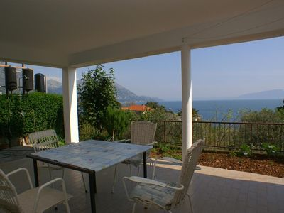 Photo for Studio flat with terrace and sea view Podaca, Makarska (AS-2635-a)