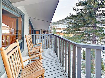 Balcony - Welcome to Park City! A master balcony offers views and rocking chairs for 2.