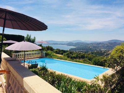Photo for Luxury Villa, private pool, breathtaking views of the sea, air-con, 5 bedrooms