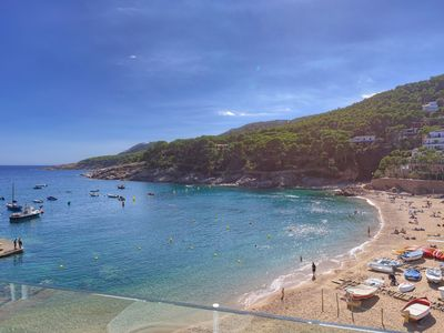 Photo for FILOSIA 2-beachfront apartment-Tamariu-Costa Brava