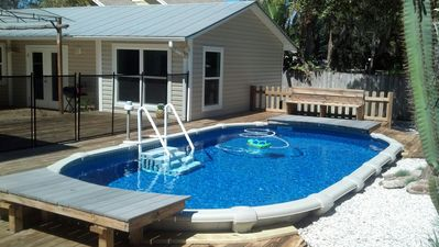 Photo for Luxury Retreat w/Two Masters! Private Pool. Walk to Beach. Pets ok! Accessible.