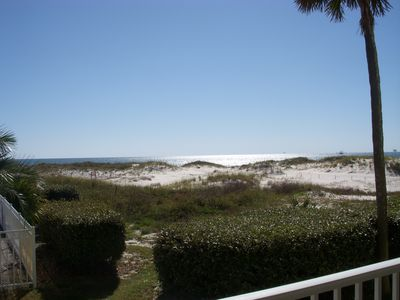 Photo for Beach & Pools Open! Directly on beach! 1 bd/sleeps 5. Aug. 16-27 open!