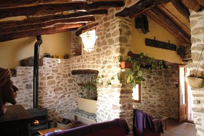 Living room with Chimney of the Attic of Castellot