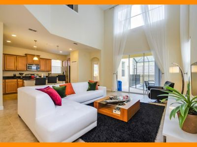Photo for Paradise Palms Resort 1 - Bright modern villa with private pool near Disney