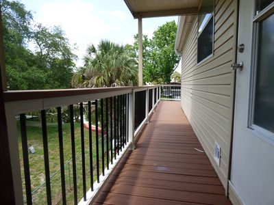 New composite decking (side deck).
