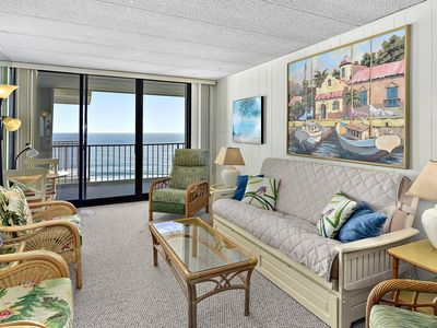 Adorable 2-bedroom oceanfront condo with heated outdoor pool and free WiFi located midtown and mere steps to the beach!