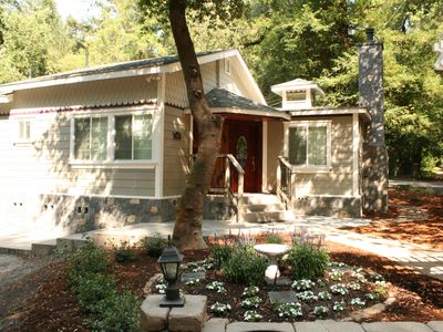 Photo for Charming Creekside Wine Country Cottage w/ Hot tub five minutes to hiking trails