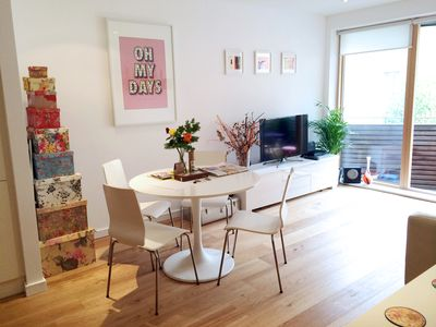 Photo for A stylish & bright, newly renovated one-bed Shoreditch apartment.