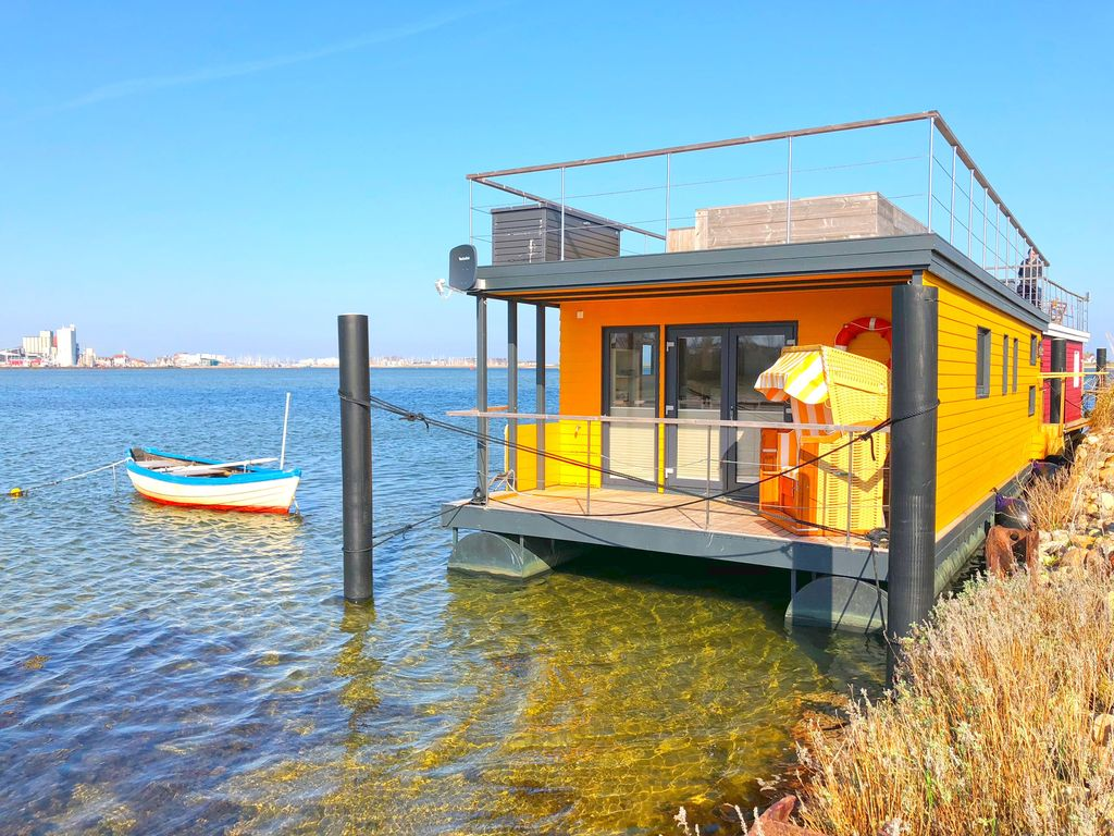 Baltic Sea houseboat Swantje on the beach Heiligenhafen / Ortmühle Photo 1