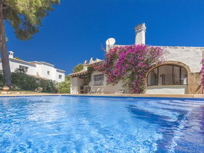 Photo for Nice and sunny 2 bedroom holiday villa with private pool and wifi in Javea, 3km