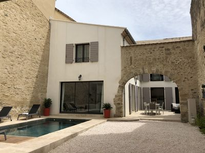 Photo for Pézenas Character house (4 **** Tourism) with swimming pool historic center of