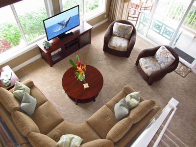 Aerial view of the living room