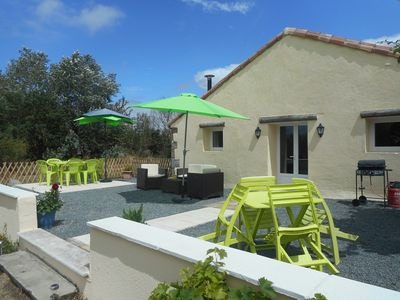 Photo for La Cachette luxury 2 bedroom, 2 bathroom, Gite with heated private Pool