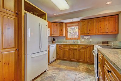Alternate view of fully equipped kitchen