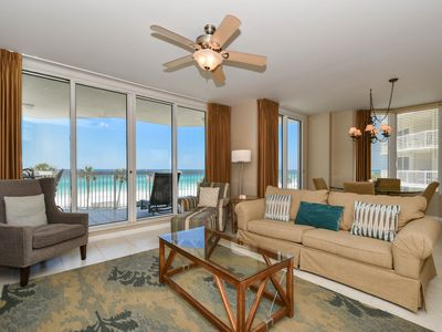 Photo for Modern, coastal beachfront condo w/ 2 private balconies!