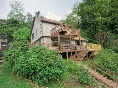 Photo for Lakefront Home w/Private Dock, Hot Tub, Gas Grill, & Wood Fireplace!