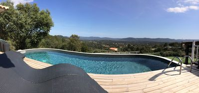 Photo for VILLA 4 * SPACIOUS VIEW 180 °! Heated private pool, ping-pong petanque!