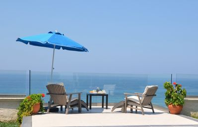 breakfast on the sundeck above the sea