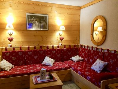 Photo for Valmorel: divisible studio in 2 rooms for 4 people, ski in ski out