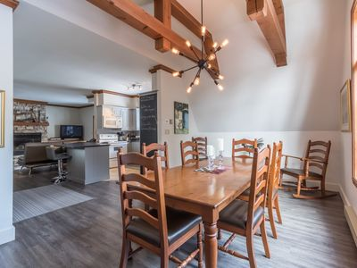 Photo for Le chalet ski-in ski-out 3 bedroom condo on 2 floors