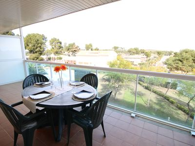 Photo for Apartment with pool and parking in Cap Salou.