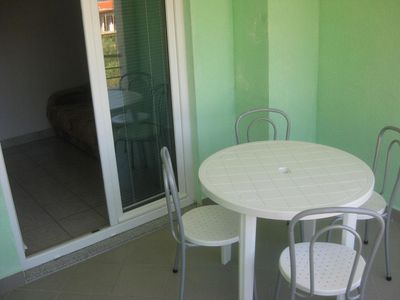 Photo for One bedroom apartment with balcony and sea view Podaca, Makarska (A-11274-c)