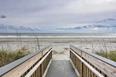 This vacation rental condo is located on the beach!