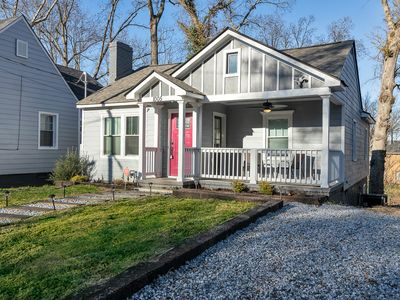 Photo for Historic bungalow house  w/wifi, SmartTV and self checkin Walk to Benz Stadium