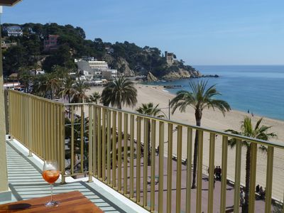 Photo for Exceptional: Large apartment with sea view and the castle of Lloret del Mar
