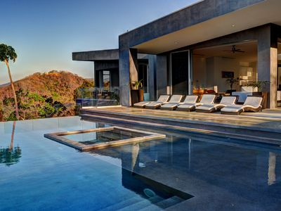 Photo for Gorgeous, Modern Villa, Hillside and Ocean Views, Infinity Pool!