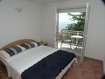 Photo for One bedroom apartment with terrace and sea view Baška Voda, Makarska (A-300-d)