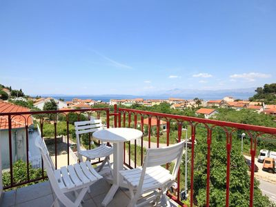 Photo for One bedroom apartment with balcony and sea view Trpanj, Pelješac (A-10180-a)