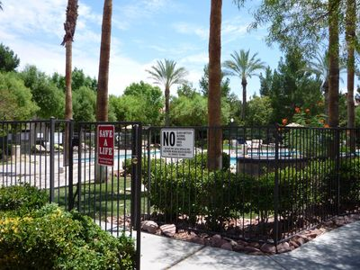 Photo for LAS VEGAS BLVD. CONDO IN GUARD GATED TROPICAL RESORT  Pets/pool/spa/gym/tennis