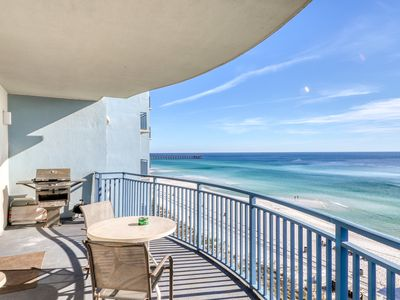 Photo for Family-friendly & convenient Gulf front condo with shared pool and hot tub!
