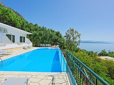 Photo for Lovely villa with private swimming pool and amazing sea views in Barbati