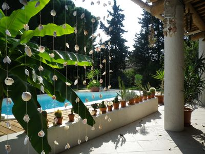Photo for Besides Uzes house with private pool