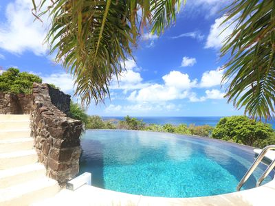Photo for Spectacular Views of the Caribbean Sea, 55-foot Infinity Saltwater Pool, Loungers, Private Chef