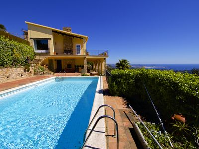 Photo for Beautiful house with seaviews and private swimming pool in a quiet place