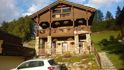 Photo for Magnificent alpine chalet, quiet, great view