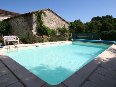 Photo for Character Gite with pool in tranquil country location in the northern Dordogne