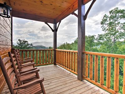 Photo for Luxurious 'Smokies View' Gatlinburg Falls Cabin!