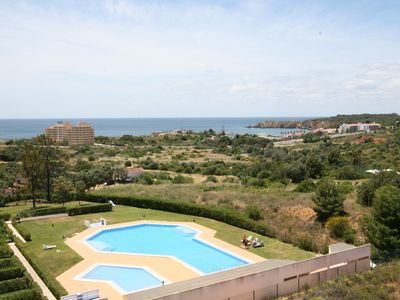 Photo for 1 bedroom air conditioned apartment with sea views and pool