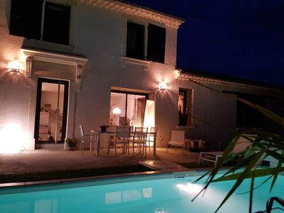Photo for Mas de Caractère, private heated pool, in the countryside, at the foot of the hills