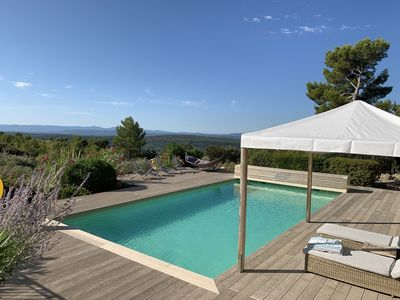 Beautiful pool deck with new Millboard decking area
