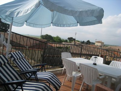 Photo for Character house south of France, views over Pyrénees, roof terrace
