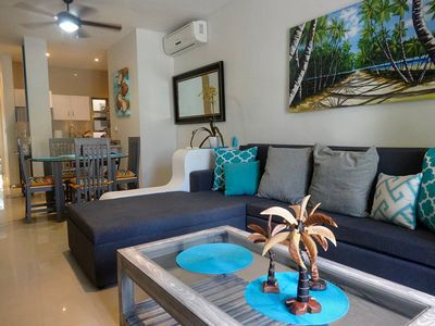 Photo for Relaxing one bedroom, steps to the beach, Welcome to Las Palmas at Les Alizes