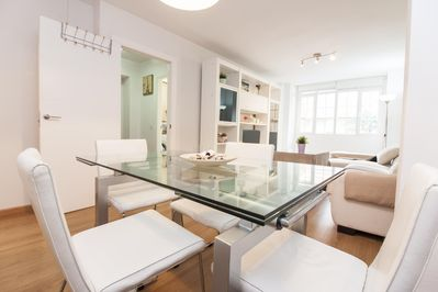 Dining Space in the Living Room