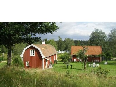 Photo for traditional swedish wooden house with all comfort, 200 m away from the lake