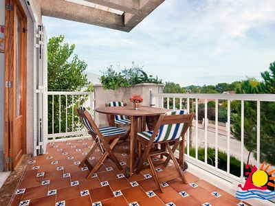 Photo for PALM APARTMENT meters from the beach, nice terrace