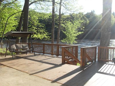 Photo for Where Friends & Rivers Meet...Waterfront home 10 miles from Lake George